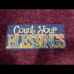 Count Your Blessings Plaque